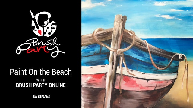 Paint 'On the Beach' with Brush Party Online