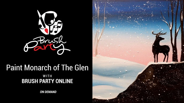 Paint Monarch of The Glen with Brush Party Online
