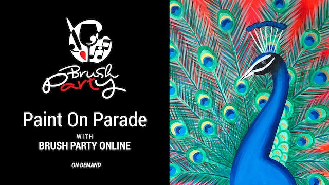 Paint On Parade with Brush Party Online