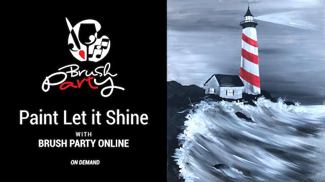 Paint Let it Shine with Brush Party O...