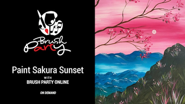 Paint Suakura Sunset with Brush Party Online