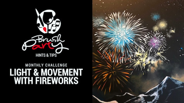 October 2021 Monthly Challenge - Create light and movement with fireworks