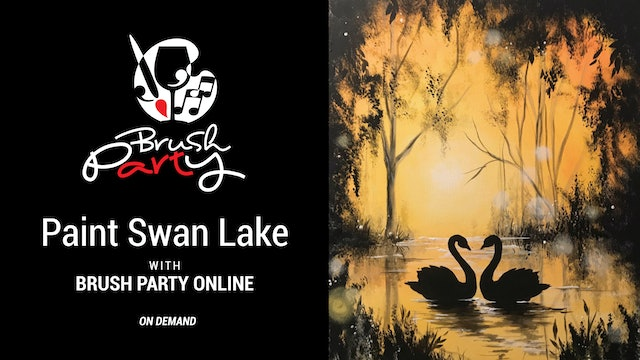Paint Swan Lake with Brush Party Online