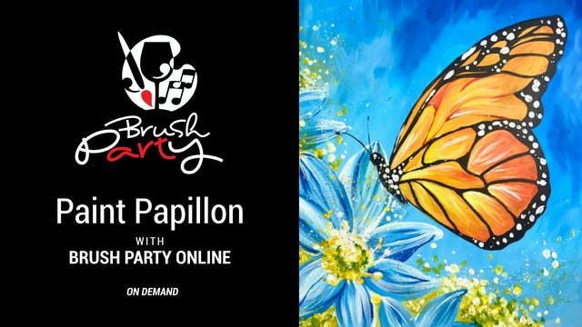 Paint Papillon with Brush Party Online