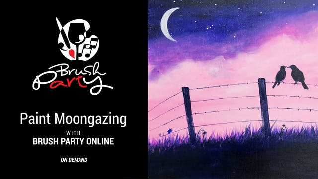 Paint Moongazing with Brush Party Online