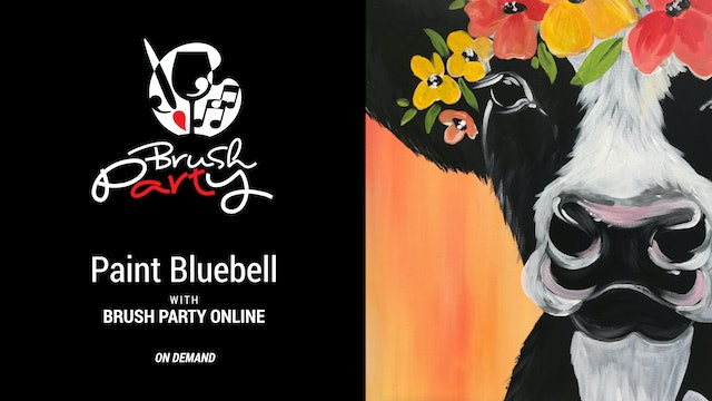 Paint Bluebell with Brush Party Online