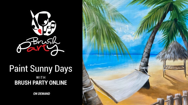 Paint Sunny Days with Brush Party Online