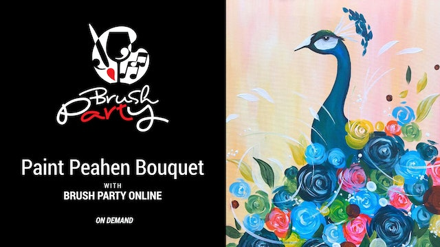 Paint Peahen Bouquet with Brush Party Online