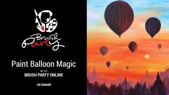 Paint Balloon Magic with Brush Party Online