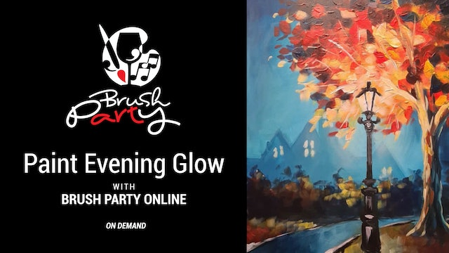 Paint Evening Glow with Brush Party Online