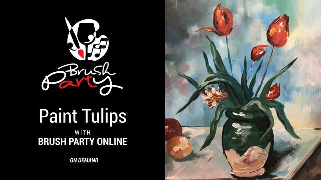 Paint Tulips with Brush Party Online
