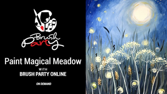 Paint 'Magical Meadow' with Brush Party Online