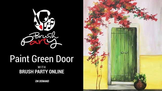 Paint Green Door with Brush Party Online