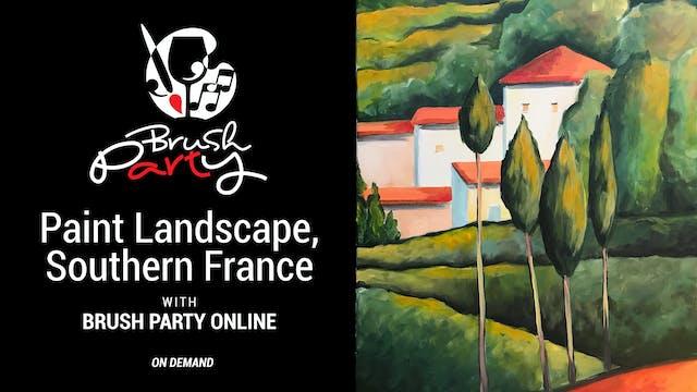 Paint Landscape, Southern France, wit...