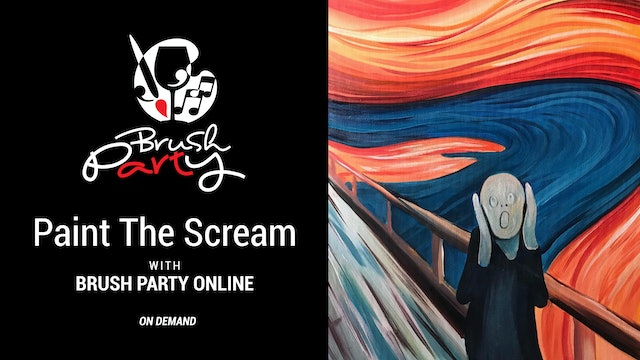 Paint The Scream with Brush Party Online