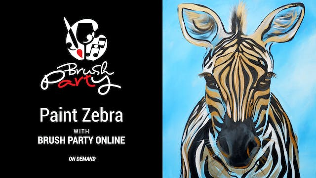 Paint Zebra with Brush Party Online