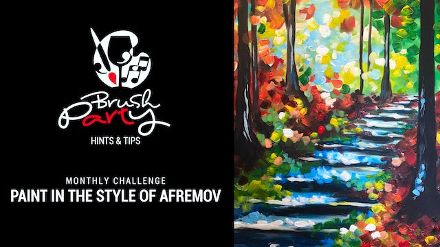 July 2021 Monthly Challenge - Paint in the style of Leonid Afremov