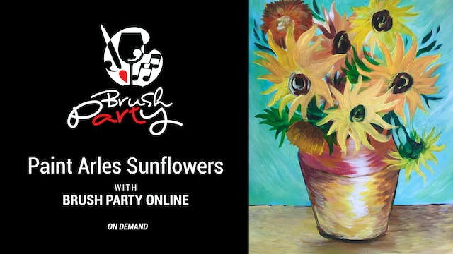 Paint Arles Sunflowers with Brush Par...