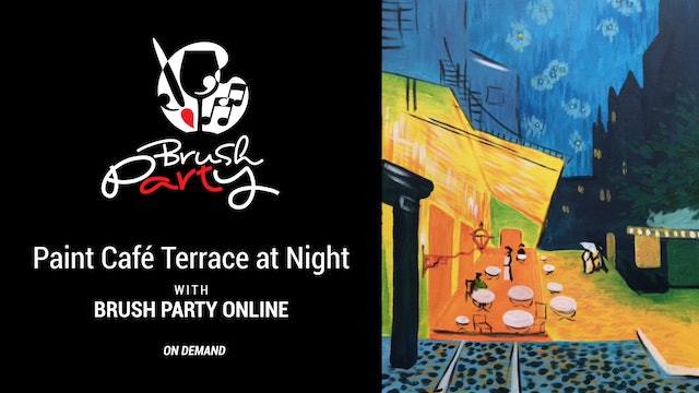 Paint Café Terrace at Night with Brush Party Online