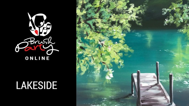 Paint Lakeside with Brush Party Online