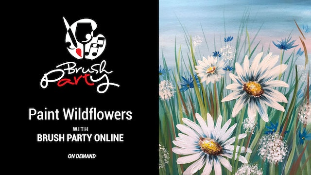 Paint Wildflowers with Brush Party Online
