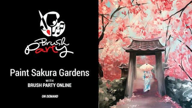 Paint Sakura Gardens with Brush Party...
