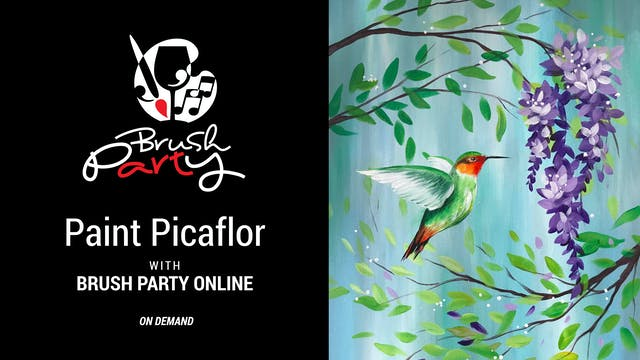Paint Picaflor with Brush Party Online
