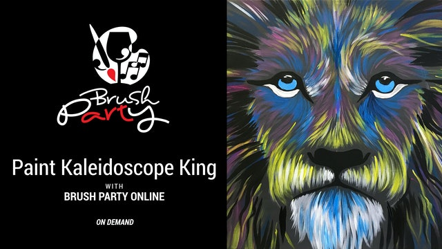 Paint Kaleidoscope King with Brush Party Online
