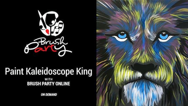 Paint Kaleidoscope King with Brush Pa...