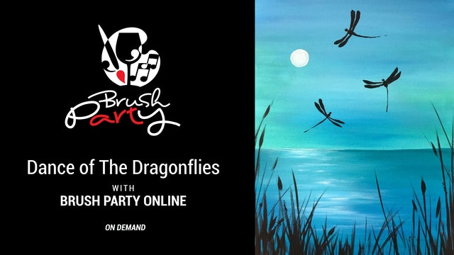 Paint Dance of The Dragonflies with Brush Party Online