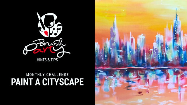 August 2021 Monthly Challenge - Paint a cityscape without black
