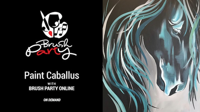 Paint Caballus with Brush Party Online