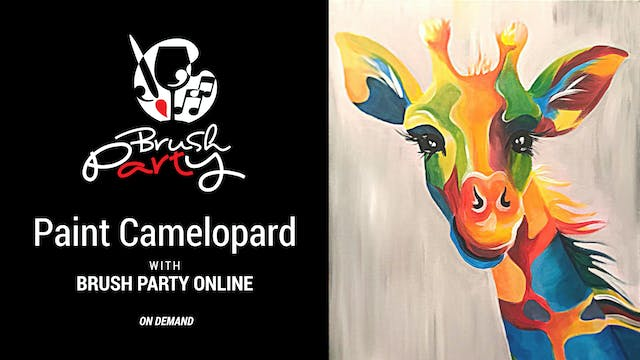 Paint Camelopard with Brush Party Online