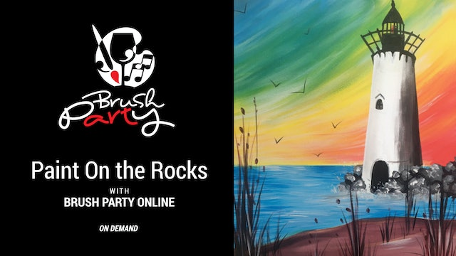 Paint On the Rocks with Brush Party Online