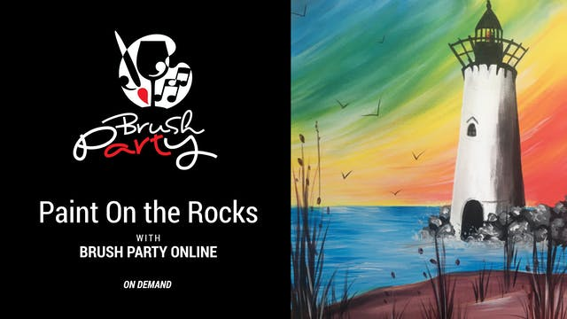 Paint On the Rocks with Brush Party O...