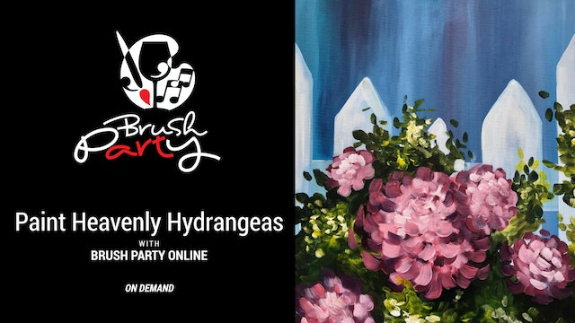 Paint Heavenly Hydrangeas with Brush Party Online