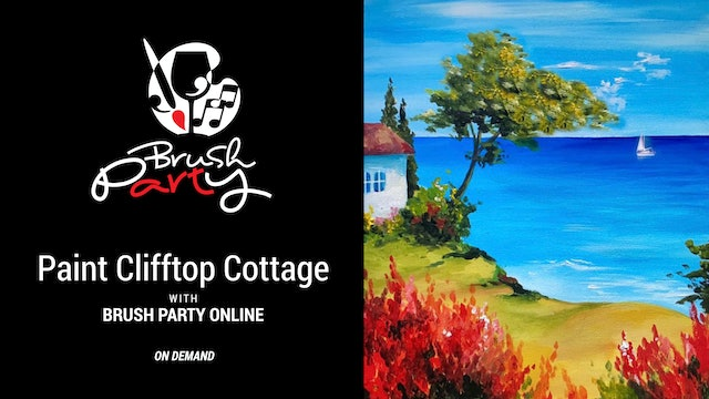 Paint Clifftop Cottage with Brush Party Online