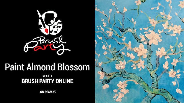Paint Almond Blossom with Brush Party...