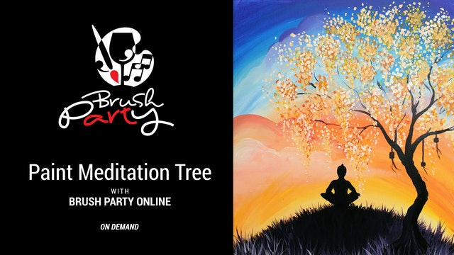 Paint The Meditation Tree with Brush Party Online