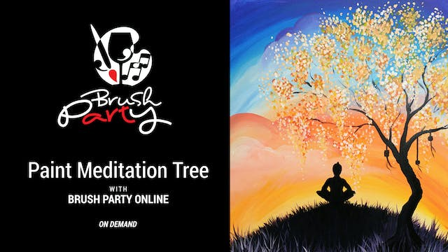 Paint The Meditation Tree with Brush ...