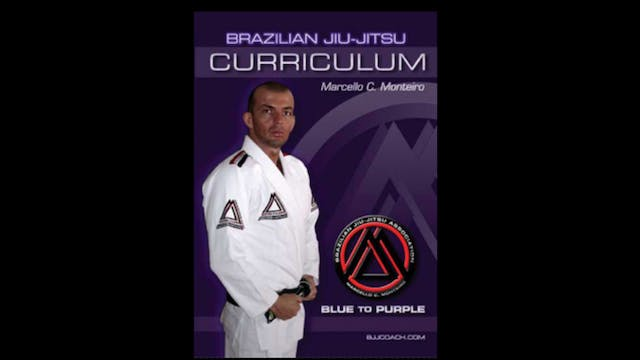 BJJ Blue to Purple Curriculum by Marcello Monteiro