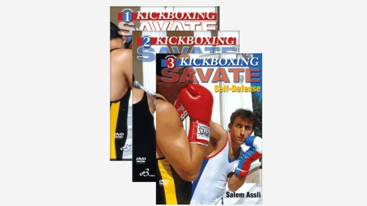 Kickboxing Savate 3 Vol Series by Salem Assli