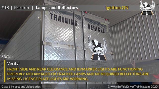 18. Pre Trip - Lamps and Reflectors
