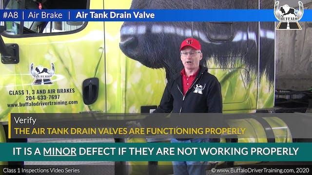 A8. Air Brake - Air Tank Drain Valve