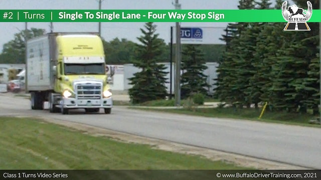 Turn 2 - Single To Single - Four Way Stop Sign
