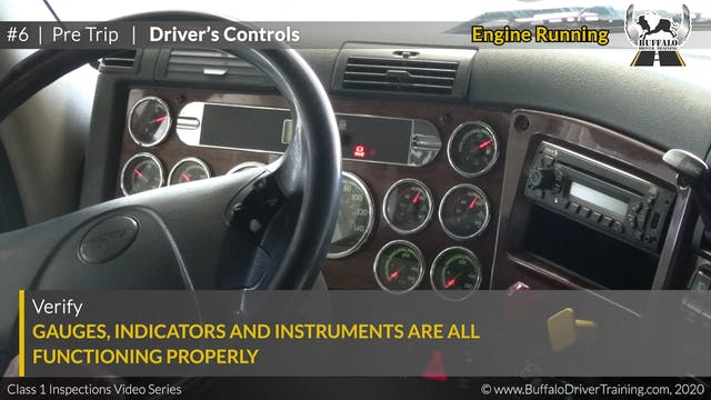 06. Pre Trip - Driver's Controls
