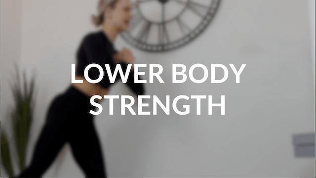 Lower body strength   30 mins