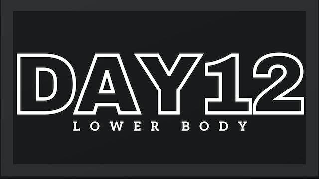 Phase 2 Day 5 - Lower Body