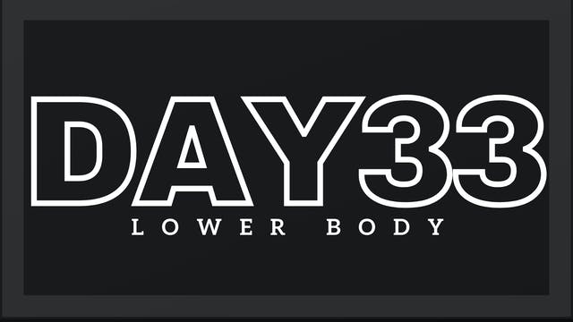 Phase 5 Day 5 - Lower Body
