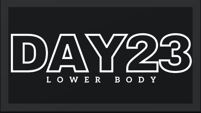 Phase 4 Day 2 - Lower Body